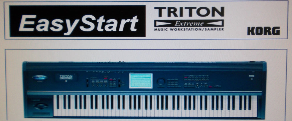 KORG TRITON EXTREME MUSIC WORKSTATION SAMPLER EASY START 11 PAGES ENG