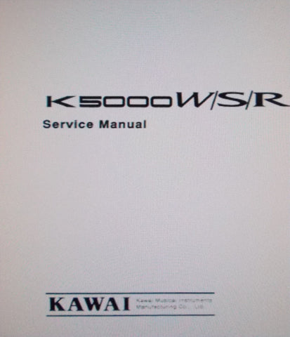 KAWAI K5000W K5000S K5000R ADVANCED ADDITIVE SYNTHESIZER WORKSTATION KEYBOARD AND MODULE SERVICE MANUAL INC BLK DIAGS WIRING DIAGS SCHEMS PCBS AND PARTS LIST 58 PAGES ENG