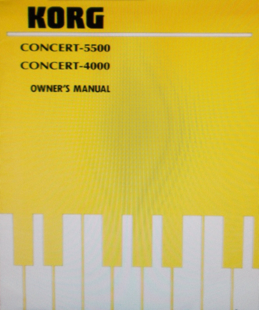 KORG C-4000 C-5500 CONCERT PIANO OWNER'S MANUAL INC CONN DIAGS 20 PAGES ENG