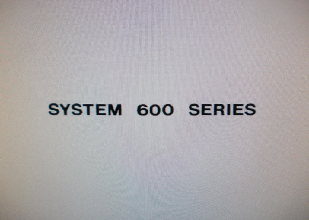ALLEN MODEL 683 SYSTEM 600 SERIES ORGAN OWNER'S MANUAL 34 PAGES ENG