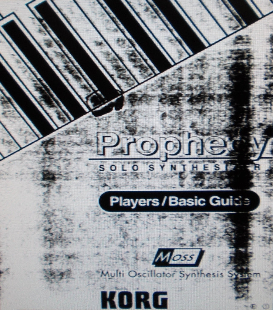 KORG PROPHECY SOLO SYNTHESIZER PLAYERS BASIC GUIDE INC CONN DIAG 53 PAGES ENG