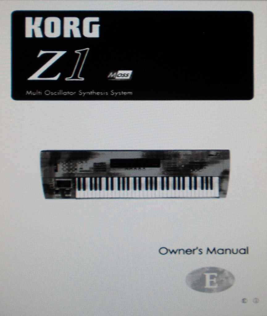 KORG Z1 MULTI OSCILLATOR SYNTHESIS SYSTEM OWNER'S MANUAL INC CONN DIAGS 50 PAGES ENG