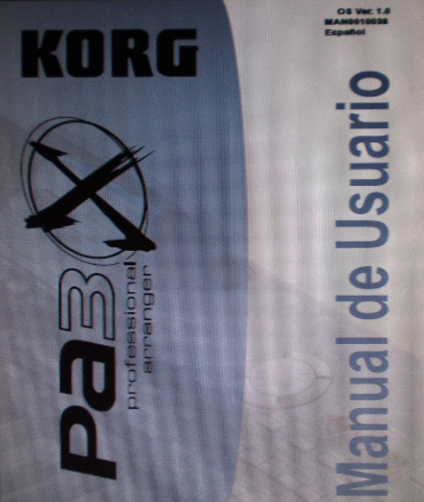 KORG Pa3X PROFESSIONAL ARRANGER MANUAL DE USUARIO VER 1.0 INC SOLUCION DE PROBLEMAS 274 PAGES ESP
