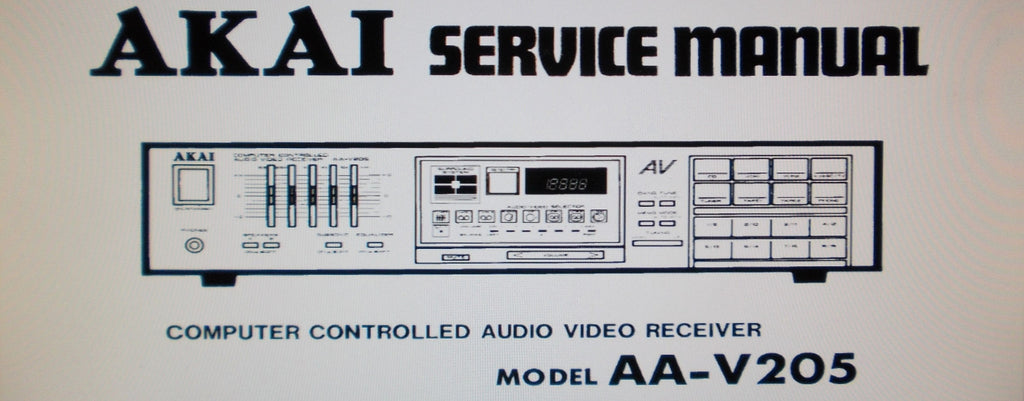 AKAI AA-V205 AA-V205L COMPUTER CONTROLLED AV RECEIVER SERVICE MANUAL INC SCHEMS PCBS AND PARTS LIST 35 PAGES ENG