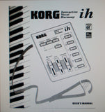 KORG ih INTERACTIVE VOCAL HARMONY USER'S MANUAL 27 PAGES ENG