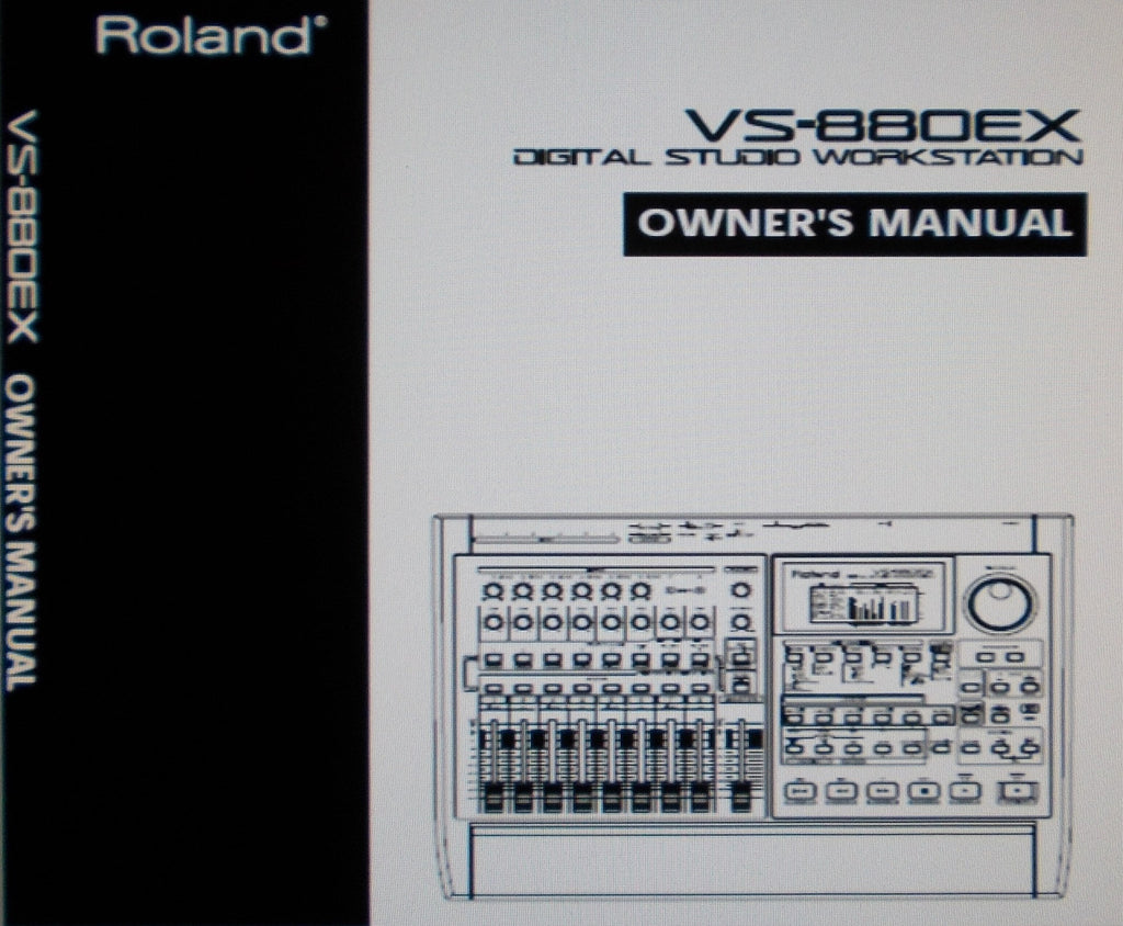 ROLAND VS-880EX DIGITAL STUDIO WORKSTATION OWNER'S MANUAL INC CONN DIAGS 192 PAGES ENG