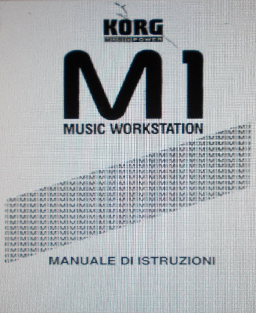 KORG M1 MUSIC WORKSTATION MANUALE DI ISTRUZIONI 174 PAGES ITAL