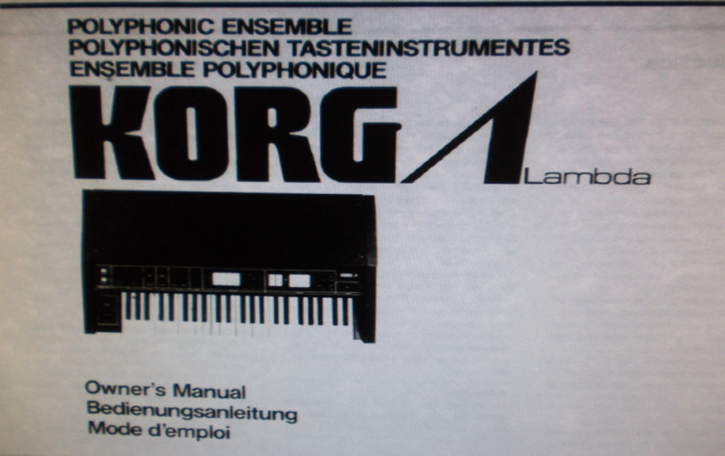 KORG ES-50 LAMBDA POLYPHONIC ENSEMBLE KEYBOARD OWNER'S MANUAL INC BLK DIAG AND CONN DIAGS 38 PAGES ENG DEUT FRANC