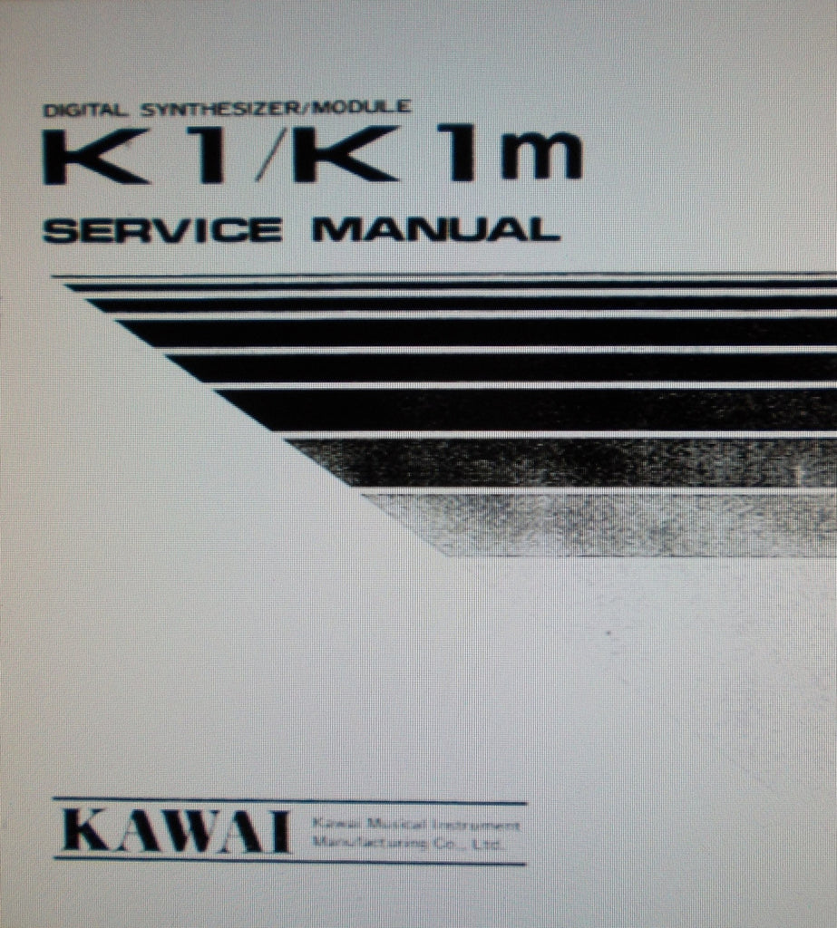 KAWAI K1 DIGITAL SYNTHESIZER K1m DIGITAL SYNTHESIZER MODULE SERVICE MANUAL INC SCHEMS PCBS AND PARTS LIST 14 PAGES ENG