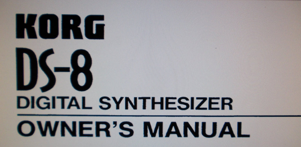 KORG DS-8 DIGITAL SYNTHESIZER OWNER'S MANUAL INC CONN DIAGS 42 PAGES ENG