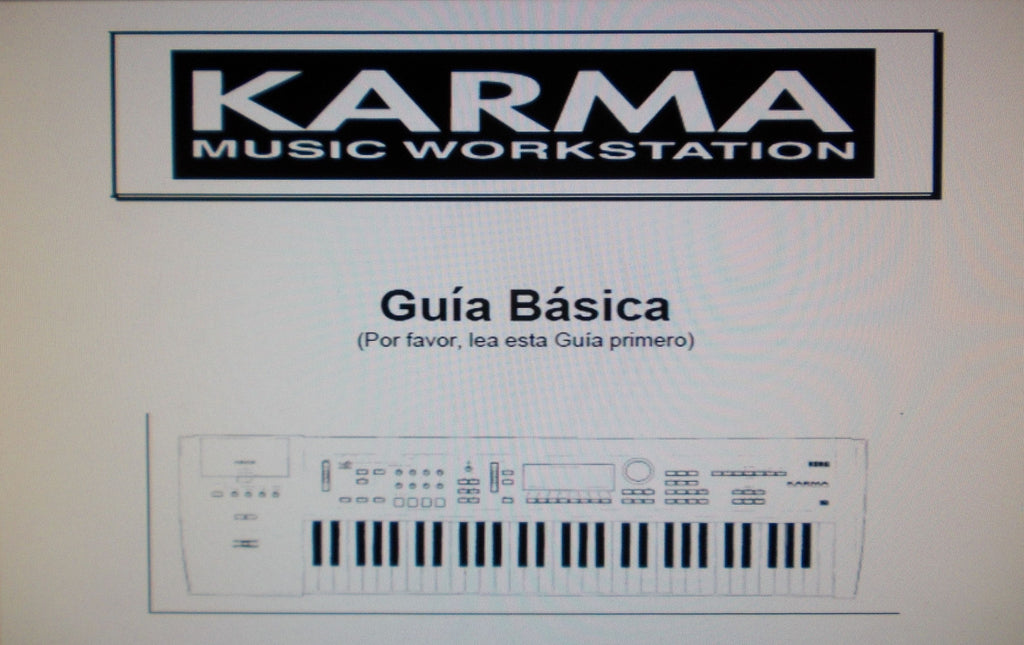 KORG KARMA MUSIC WORKSTATION GUIA BASICA INC SOLUCION DE PROBLEMAS 133 PAGES ESP