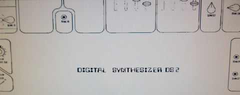 CRUMAR DS-2 DIGITAL SYNTHESIZER SET OF SCHEMATIC DIAGRAMS 18 PAGES ENG