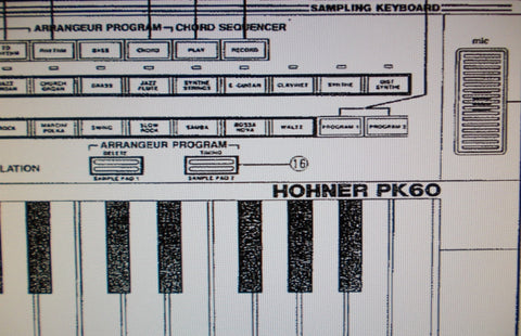 HOHNER PK60 SAMPLING KEYBOARD BEDIENUNGSANLEITUNG 38 PAGES DEUT