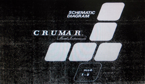 CRUMAR ORGANIZER T-2 POLYPHONIC ORGAN SET OF SCHEMATIC DIAGRAMS UPPER AND LOWER MANUAL BASS AND GENERAL 24 PAGES ENG
