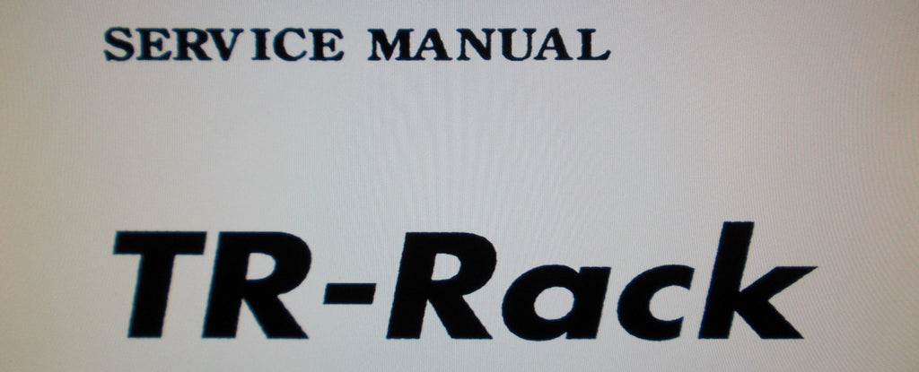 KORG TR-RACK EXPANDED ACCESS MODULE SERVICE MANUAL INC BLK DIAG SCHEMS AND PARTS LIST 9 PAGES ENG