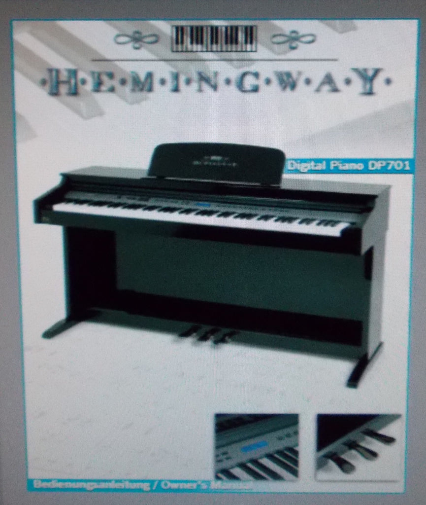 HEMINGWAY DP701 DIGITAL PIANO OWNER'S MANUAL 32 PAGES ENG DEUT