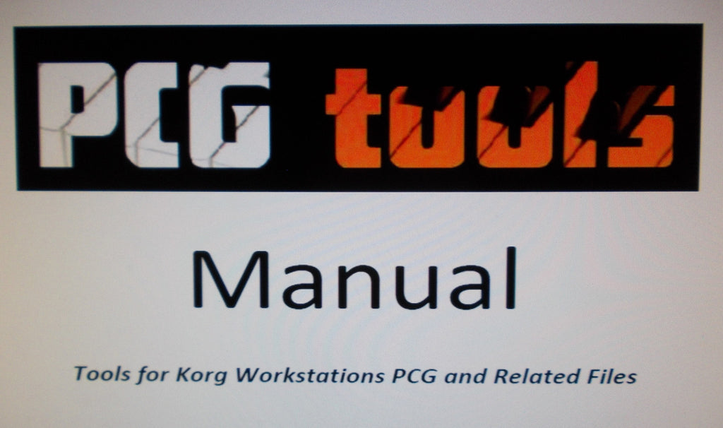 KORG WORKSTATION PCG AND RELATED FILES TOOLS MANUAL INC TRSHOOT GUIDE 143 PAGES ENG
