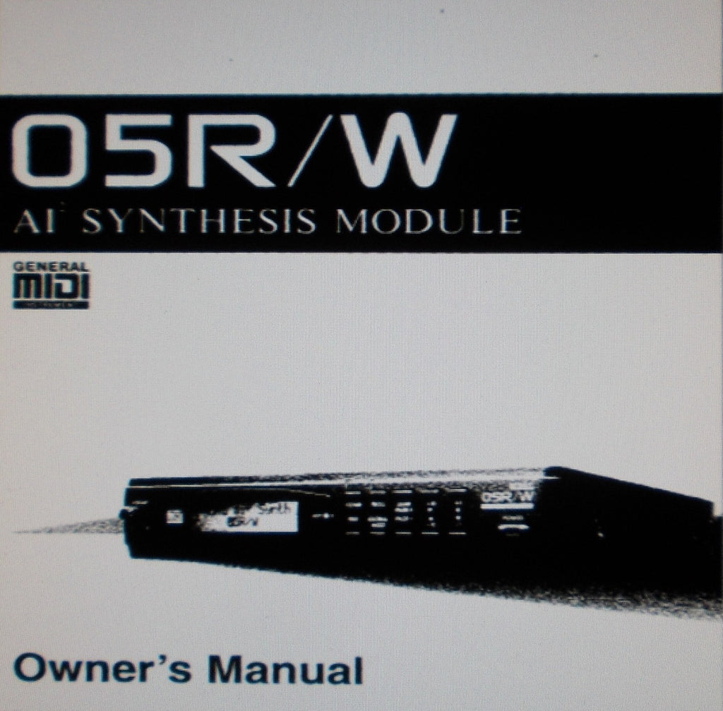 KORG 05R W ai SQUARED SYNTHESIS MODULE OWNER'S MANUAL INC TRSHOOT GUIDE 135 PAGES ENG