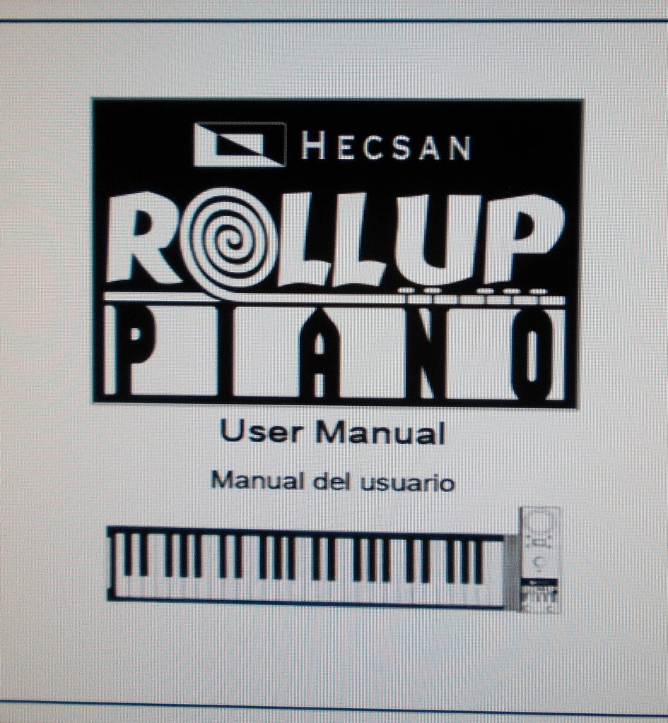 HECSAN ROLLUP PIANO USER MANUAL 10 PAGES ENG ESP