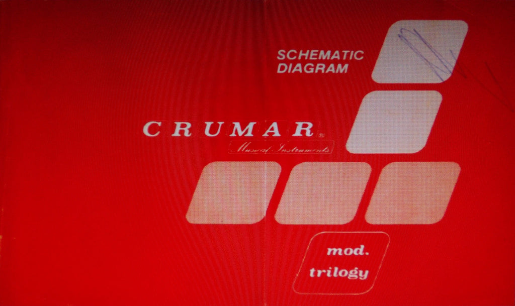 CRUMAR TRILOGY POLYPHONIC SYNTHESIZER SET OF SCHEMATICS PCBS AND PARTS LIST 26 PAGES ENG