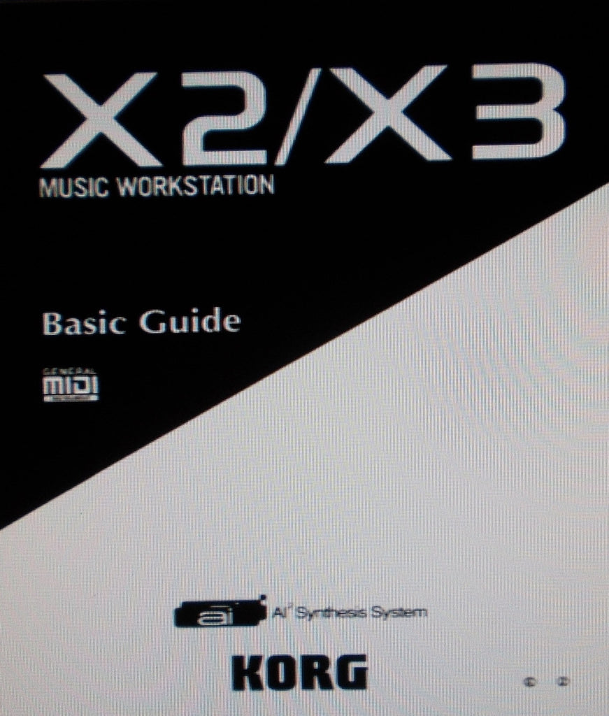 KORG X2 X3 MUSIC WORKSTATION BASIC GUIDE INC CONN DIAGS 58 PAGES ENG