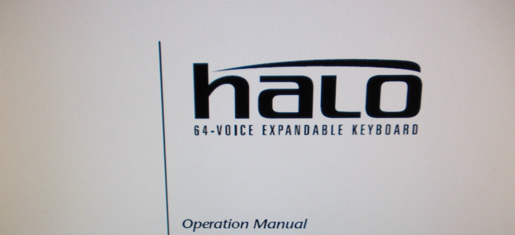 ENSONIQ HALO 64 VOICE SYNTHESIZER OPERATION MANUAL 264 PAGES ENG