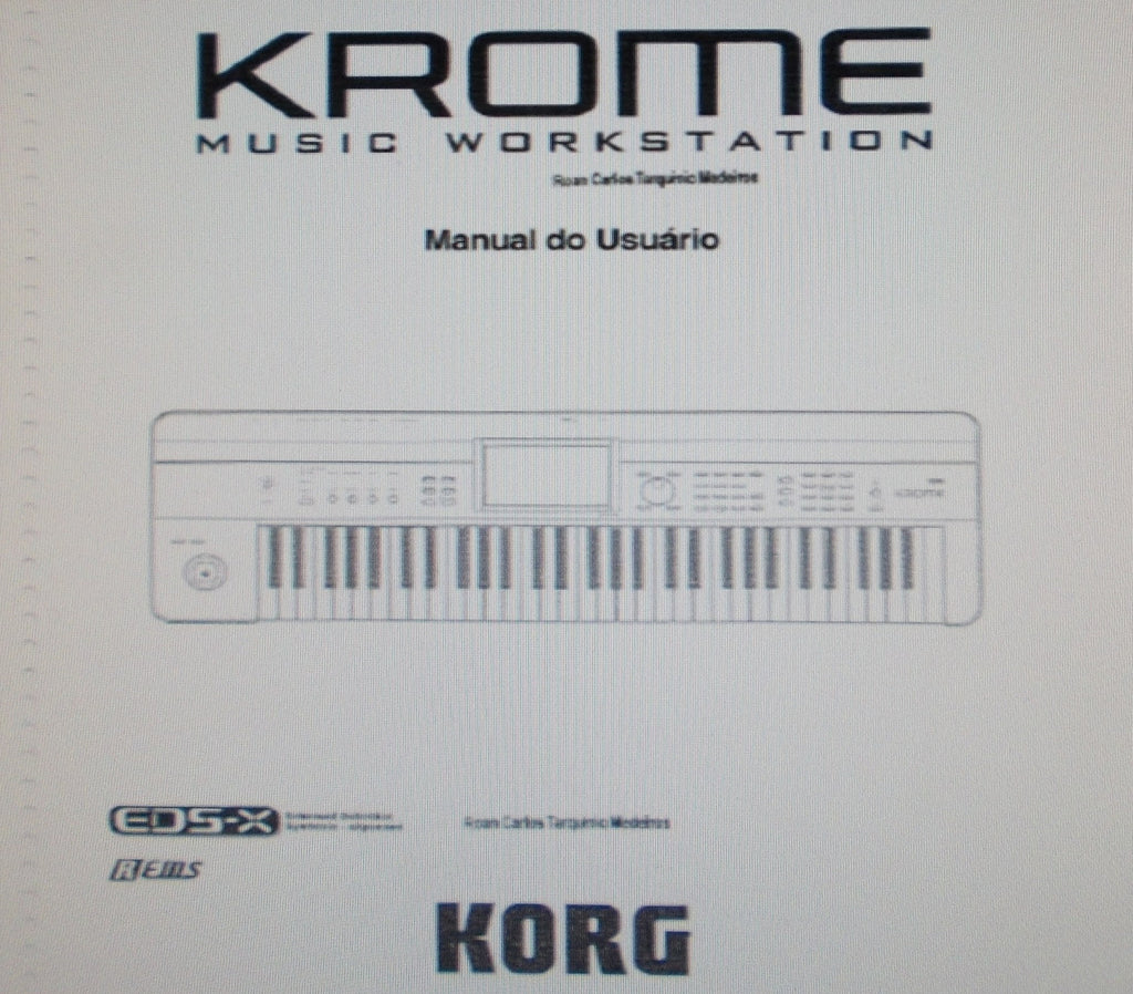 KORG KROME MUSIC WORKSTATION MANUAL DO USUARIO INC CONN DIAGS AND PROBLEMAS E POSSIVEIS SOLUCOES 134 PAGES PORT-BR