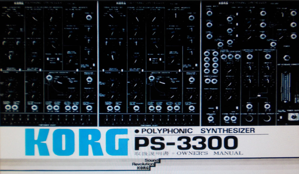 KORG PS-3300 POLYPHONIC SYNTHESIZER OWNER'S MANUAL INC BLK DIAGS AND CONN DIAGS 63 PAGES ENG