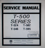 HAMMOND T-500 SERIES T524 T582 T546 T595 ORGAN SERVICE MANUAL INC SCHEMS AND PCBS  59 PAGES ENG