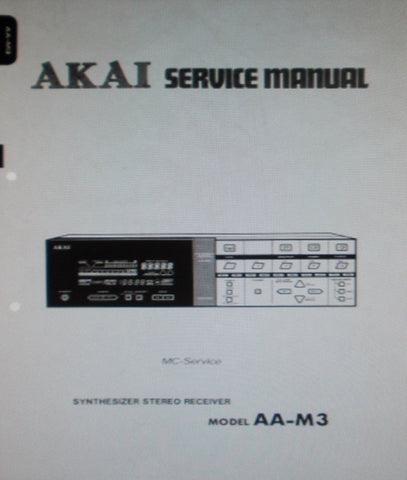 AKAI AA-M3 SYNTHESIZER STEREO RECEIVER SERVICE MANUAL INC SCHEMS PCBS AND PARTS LIST 46 PAGES ENG