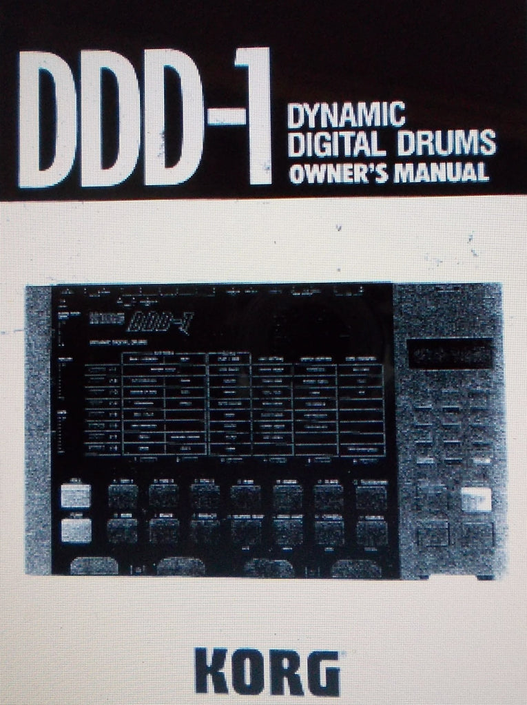 KORG DDD1 DYNAMIC DIGITAL DRUMS OWNER'S MANUAL INC CONN DIAGS 76 PAGES ENG
