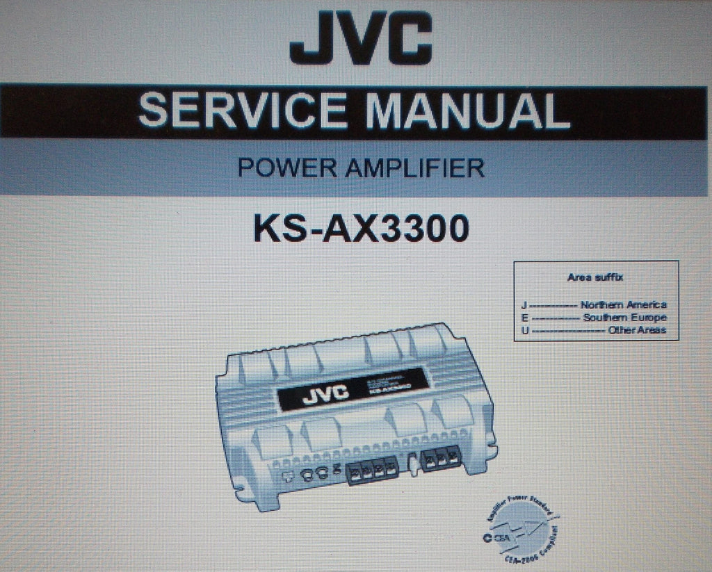 JVC KS-AX3300 POWER AMP SERVICE MANUAL INC SCHEMS AND PARTS LIST 27 PAGES ENG
