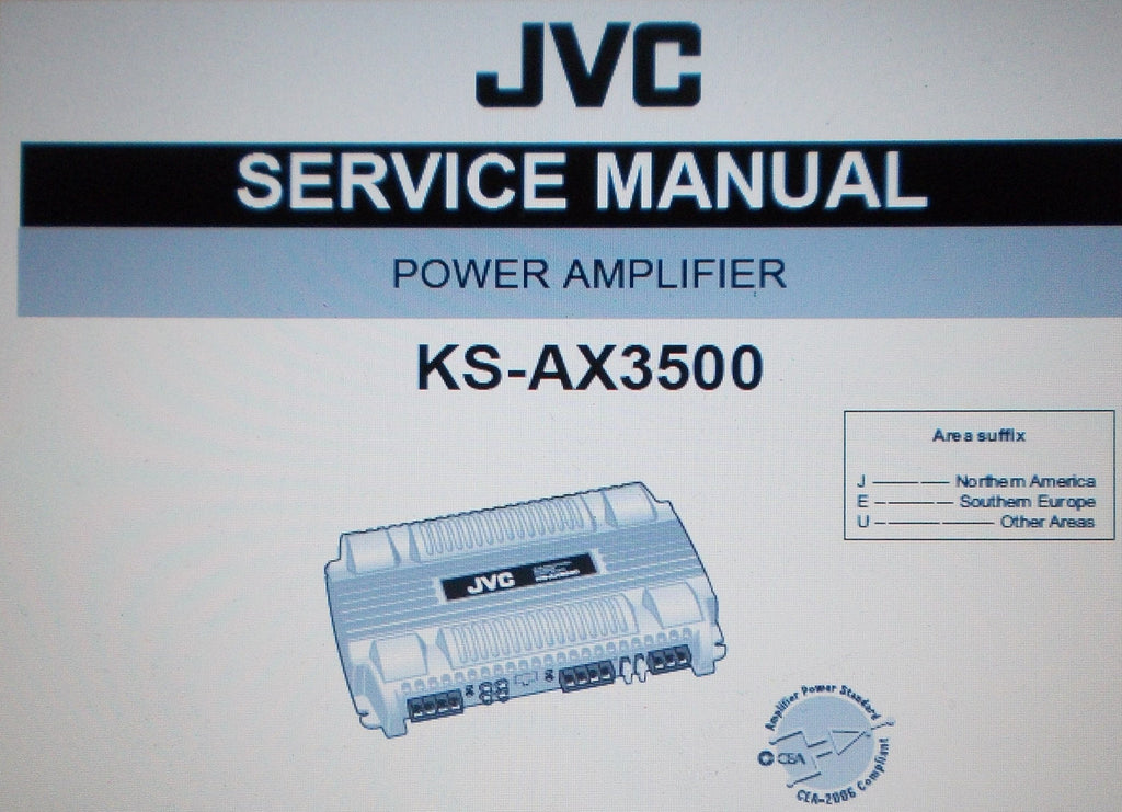 JVC KS-AX3500 POWER AMP SERVICE MANUAL INC SCHEMS AND PARTS LIST 27 PAGES ENG