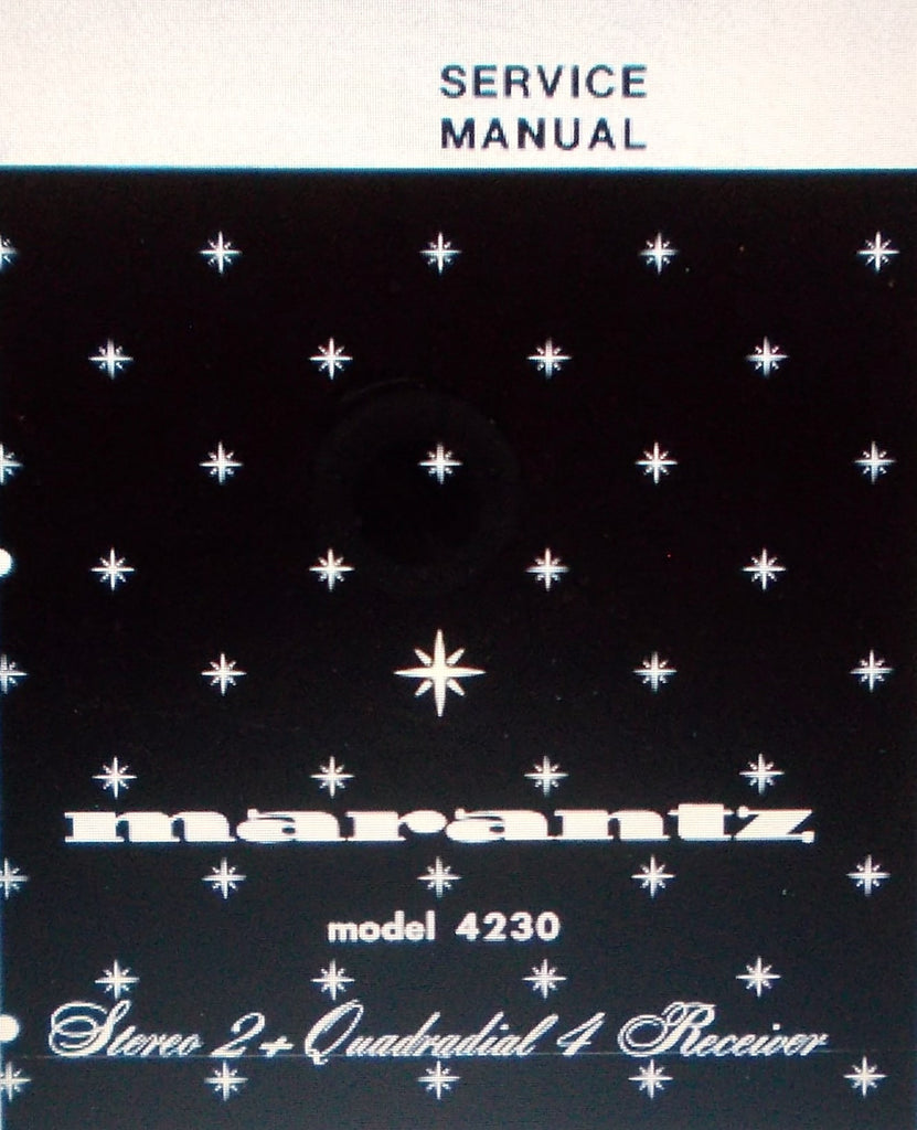 MARANTZ 4230 STEREO 2 + QUADRIAL 4  RECEIVER SERVICE MANUAL INC SCHEMS AND PARTS LIST 40 PAGES ENG