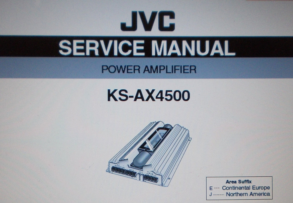 JVC KS-AX4500 POWER AMP SERVICE MANUAL INC SCHEMS AND PARTS LIST 27 PAGES ENG