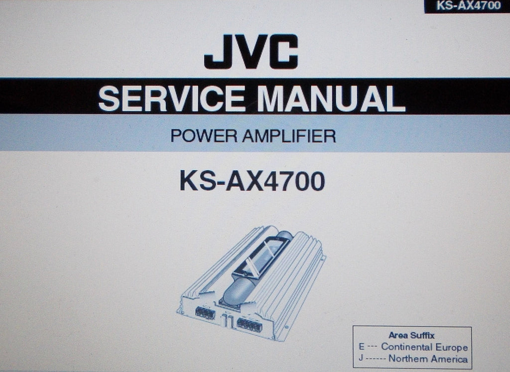 JVC KS-AX4700 POWER AMP SERVICE MANUAL INC SCHEMS AND PARTS LIST 25 PAGES ENG
