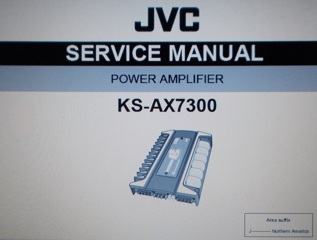 JVC KS-AX7300 POWER AMP SERVICE MANUAL INC SCHEMS AND PARTS LIST 33 PAGES ENG