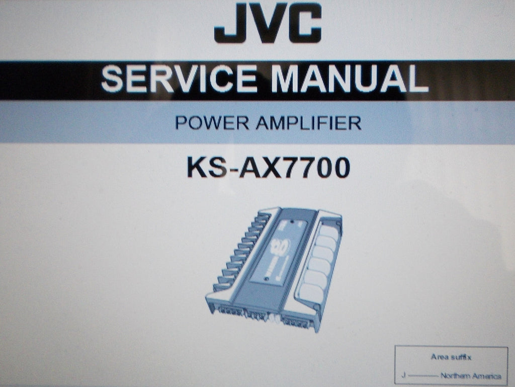 JVC KS-AX7700 POWER AMP SERVICE MANUAL INC SCHEMS AND PARTS LIST 29 PAGES ENG