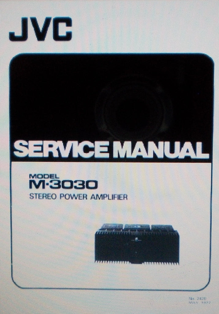 JVC M-3030 STEREO POWER AMP SERVICE MANUAL INC WIRING DIAG PCBS AND PARTS LIST 23 PAGES ENG