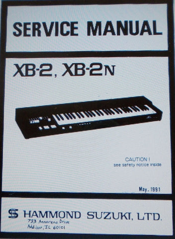 HAMMOND XB-2 XB-2n KEYBOARD SERVICE MANUAL INC SCHEMS AND PARTS LIST 46 PAGES ENG