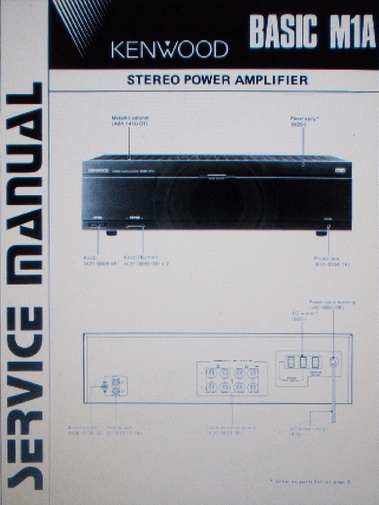 KENWOOD BASIC M1A STEREO POWER AMP SERVICE MANUAL INC SCHEMS AND PARTS LIST 14 PAGES ENG
