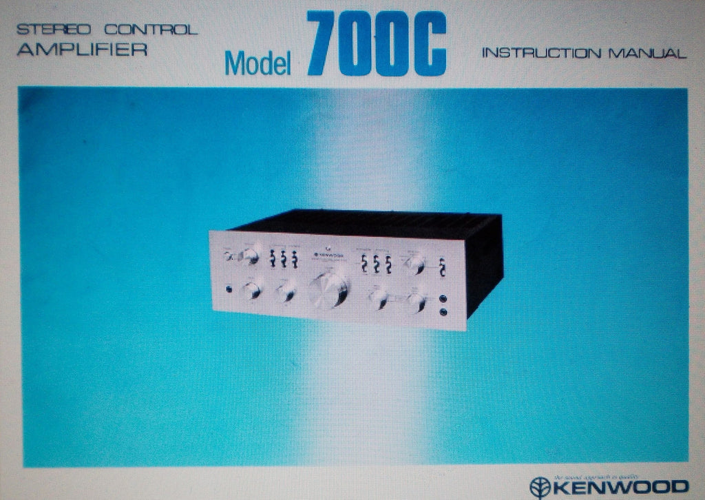 KENWOOD 700C STEREO  CONTROL AMP  INSTRUCTION MANUAL INC CONN DIAG AND TRSHOOT GUIDE 16 PAGES ENG