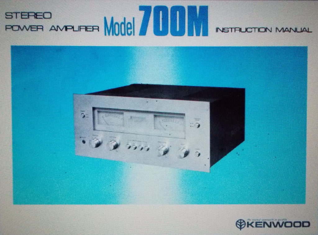 KENWOOD 700M STEREO POWER AMP INSTRUCTION MANUAL INC CONN AND BLK DIAG 12 PAGES ENG