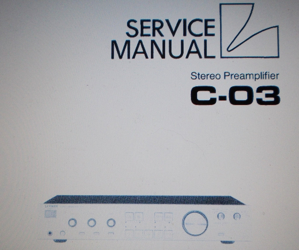 LUXMAN C-03 STEREO  PREAMPLIFIER SERVICE MANUAL INC SCHEMS AND PARTS LIST 26 PAGES ENG