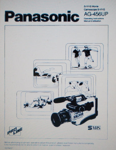 PANASONIC AG-456UP S-VHS MOVIE CAMERA OPERATING INSTRUCTIONS 144 PAGES ENG FRANC