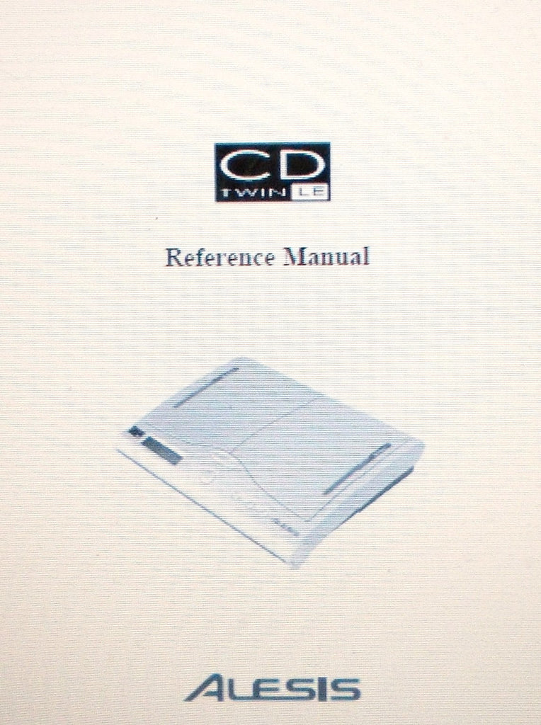 ALESIS CD TWIN LE CD TO CD COPYING DEVICE REFERENCE MANUAL 15 PAGES ENG