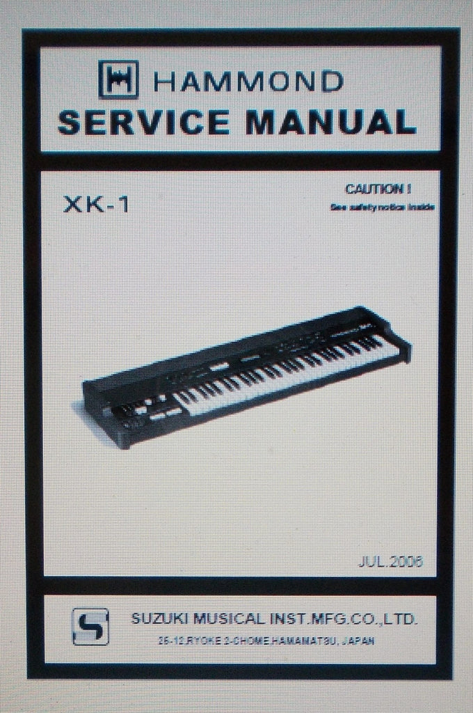 HAMMOND XK-1 DRAWBAR KEYBOARD SERVICE MANUAL INC SCHEMS AND PARTS LIST 33 PAGES ENG