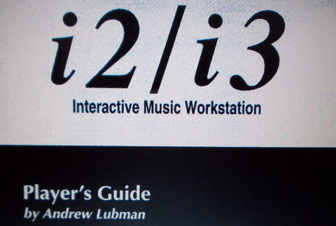 KORG i2 i3 INTERACTIVE MUSIC WORKSTATION PLAYER'S GUIDE 178 PAGES ENG