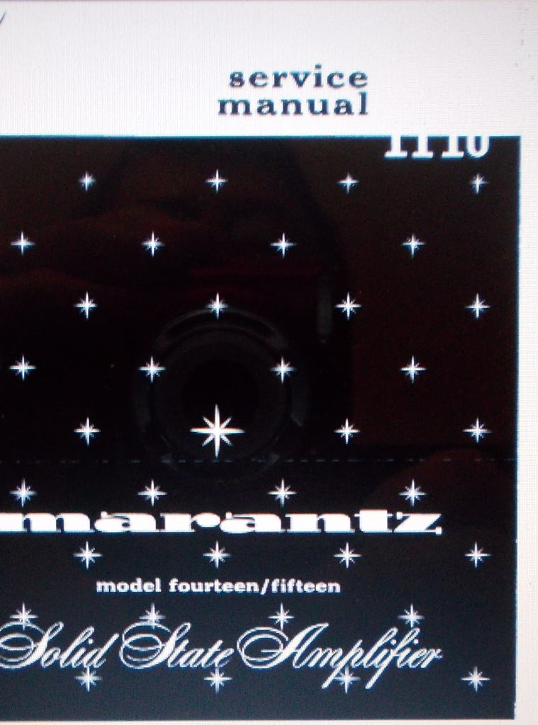 MARANTZ 14 15 SOLID STATE POWER AMP SERVICE MANUAL INC SCHEMS 24 PAGES ENG