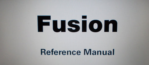 ALESIS FUSION DIGITAL AUDIO WORKSTATION REFERENCE MANUAL INC OUTPUT BLK DIAG AND TRSHOOT GUIDE 296 PAGES ENG